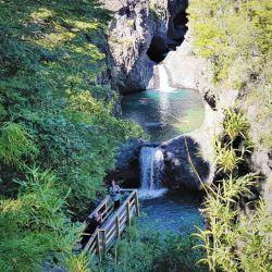 Saltos de agua del Parque Nacional Radal Siete Tazas, en la Región del  Maule, a 275 km de Santiago de Chile.
