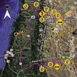 Recorrido total aproximado: 1.150 km. Recordar cargar combustible antes de atravesar los pasos internacionales.