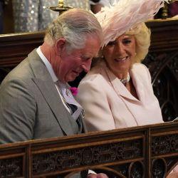 El príncipe Carlos en la boda de Meghan y Harry.
