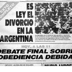 Ley el divorcio vincular en la Argentina
