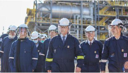 Alberto Fernández inauguró la primera planta refinadora de diésel premium del país.