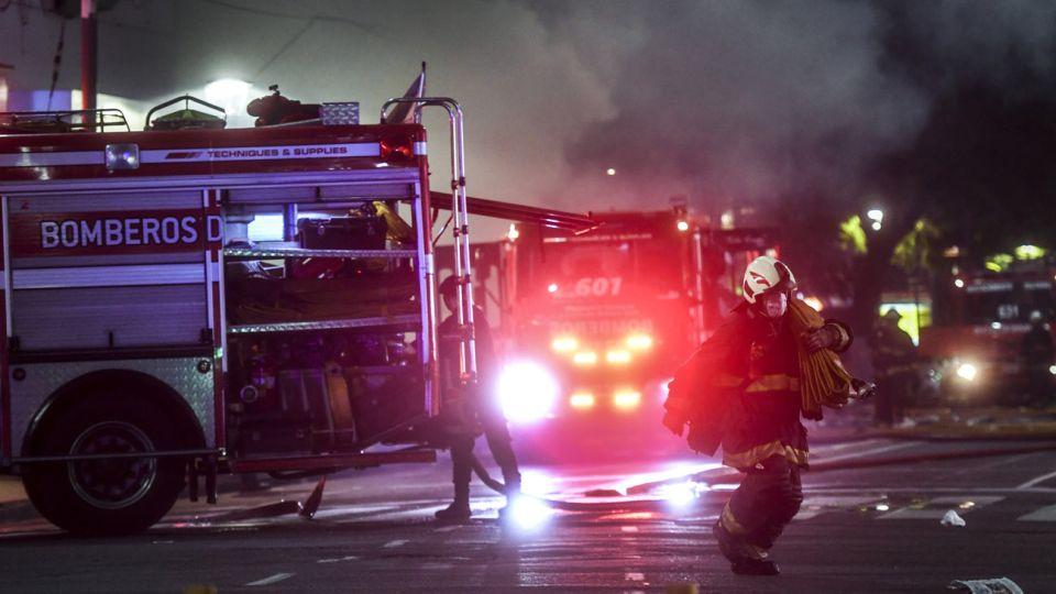 explosiones e incendio en un edificio de Villa Crespo 20200603