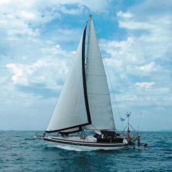 El Kira-Kira es un Van De Standt Seal de acero naval construido totalmente en el país.