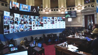El Senado volvió a sesionar de forma virtual y la oposición se desconectó.