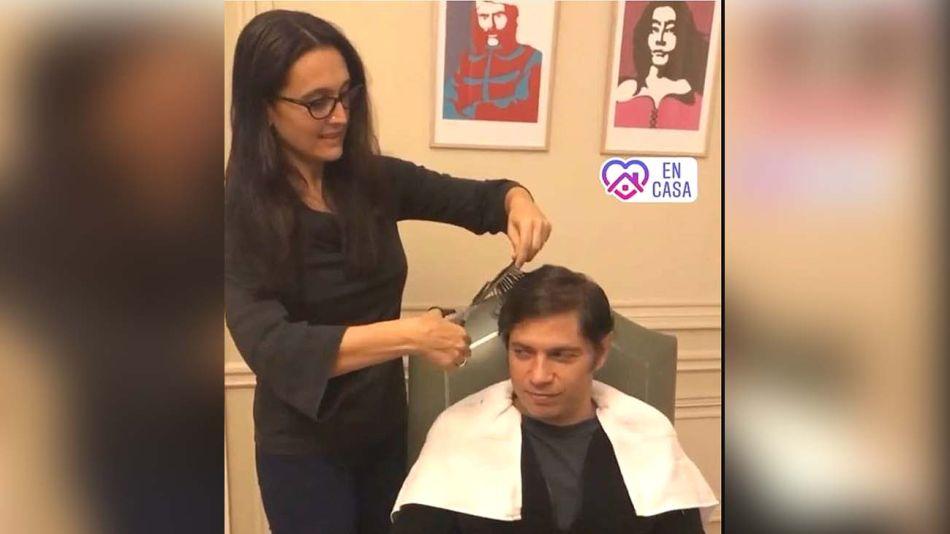 Soledad Quereilhac le cortó el pelo a Axel Kicillof durante la cuarentena-20200604