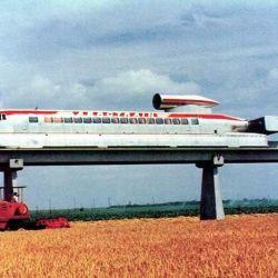 La idea de Jean Bertin era conectar diferentes ciudades a través de una red de monorrieles para el Aerotrain.
