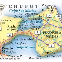 Mapa de cómo llegar a Puerto madryn.