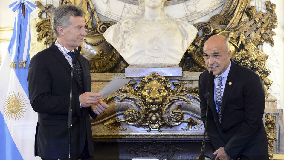 Archivo. Macri y Arribas, durante el juramento de 2016.