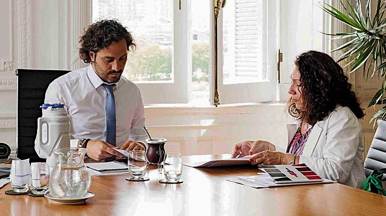 Archivo. Santiago Cafiero, reunido con Cristina Caamaño.