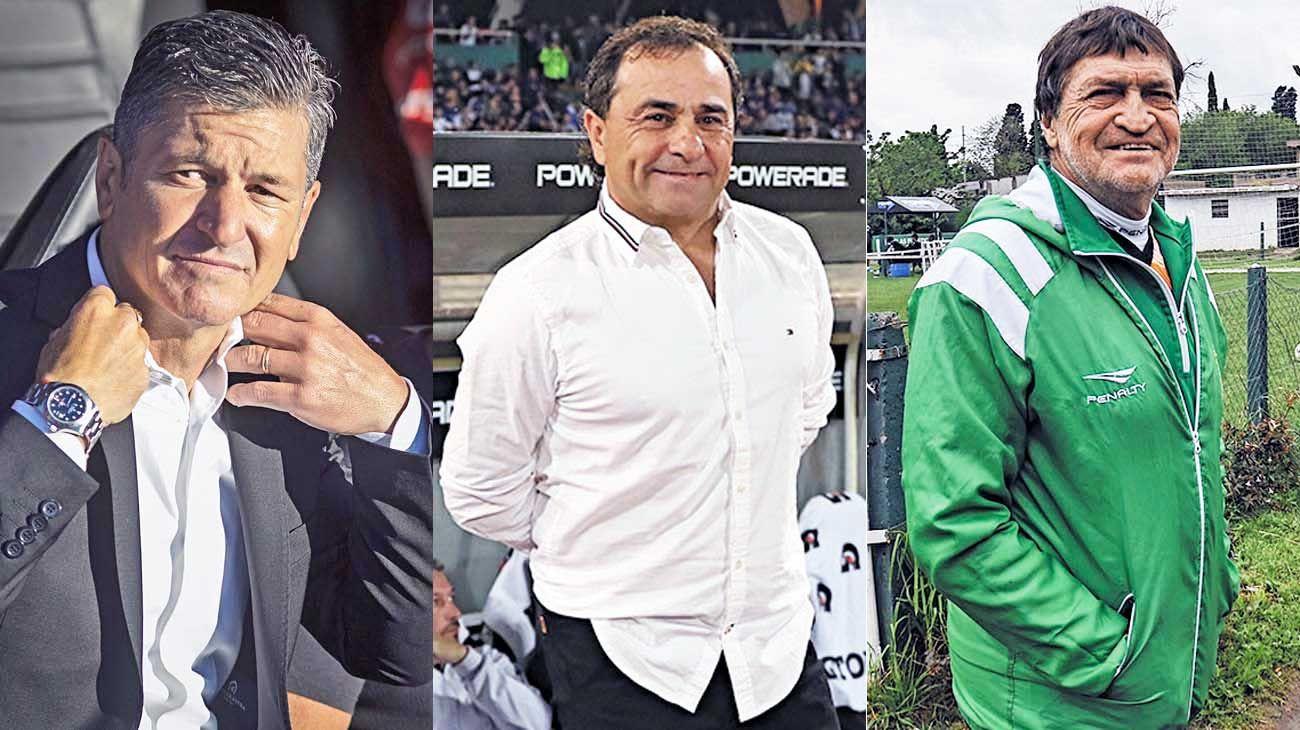 Afuera. Sciacqua, Coleoni y Falcioni. Los tres se quedaron sin equipo durante este receso.
