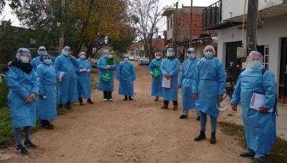 El equipo de trabajo de la Dirección de Salud Comunitaria del ministerio de Salud de Provincia de Buenos Aires.