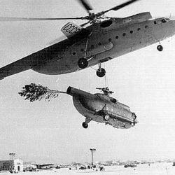 El Mi-6 fue diseñado para mover pesados cargamentos, función que supo cumplir con creces.