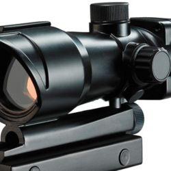 Visor sin aumento dentro del cual se proyecta un punto rojo que facilita la puntería rápida, similar al utilizado en el operativo.