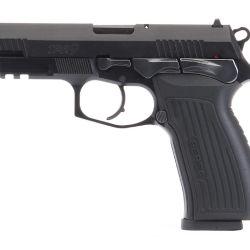 Pistola Bersa Thunder PRO, calibre 9 mm. Una así o una Glock podrían ser las utilizadas en el operativo.