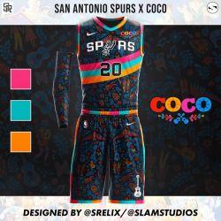 Las camisetas de los equipos de la NBA basadas en personajes de Disney. // @srelix