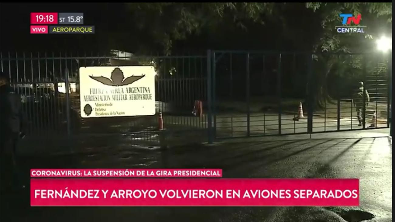 Alberto Fernández llegó a Buenos Aires y espera el hisopado de Daniel Arroyo