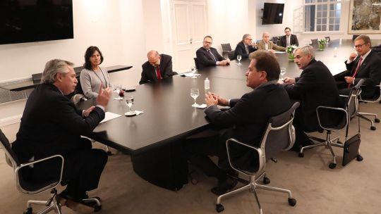 Cumbre entre Alberto Fernández y directivos de Vicentin