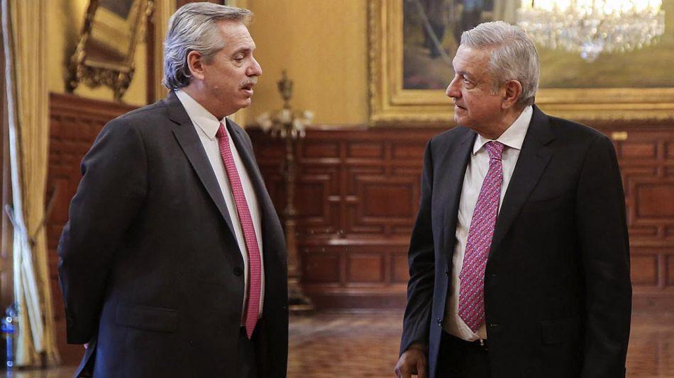 Alberto Fernandez y Manuel López Obrador 20200612