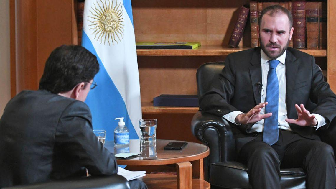 Minister Guzman interviewed by Jorge Fontevecchia.