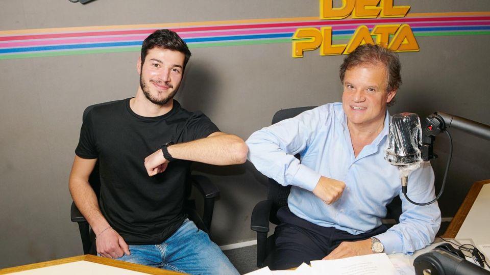 Quique Sacco y el hijo de Perez Volpín comparten trabajo en la radio