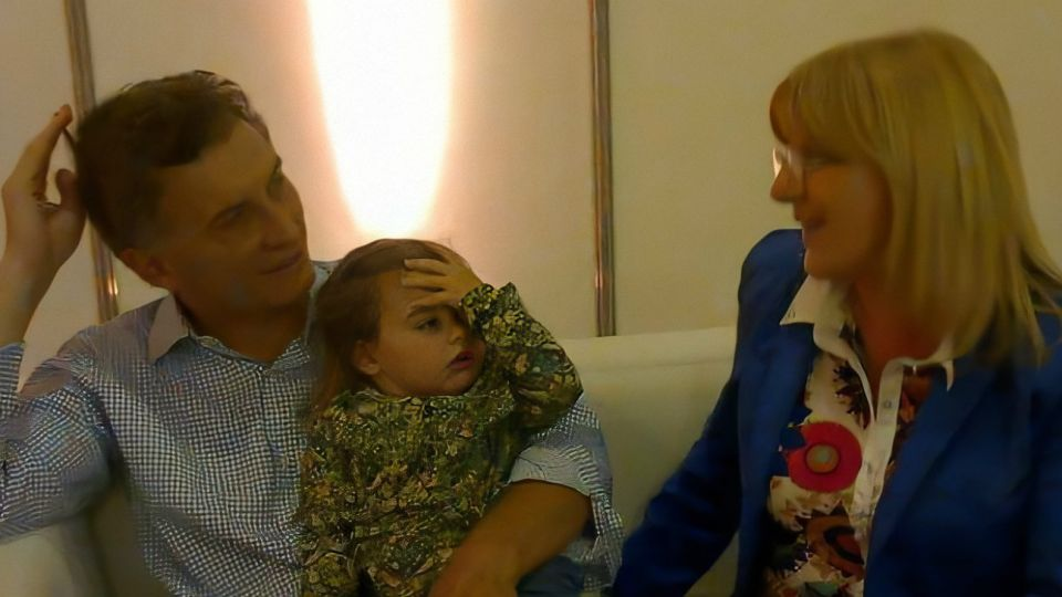 Susana Martinengo, en una foto con Macri y Antonia.