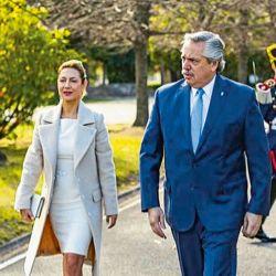 Fabiola Yáñez y Alberto Fernández en Olivos. | Foto:Cedoc.