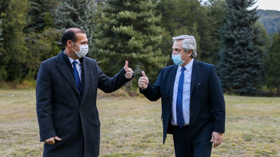 President Alberto Fernandez meets with Neuquén Province Governor Omar Gutiérrez last week.