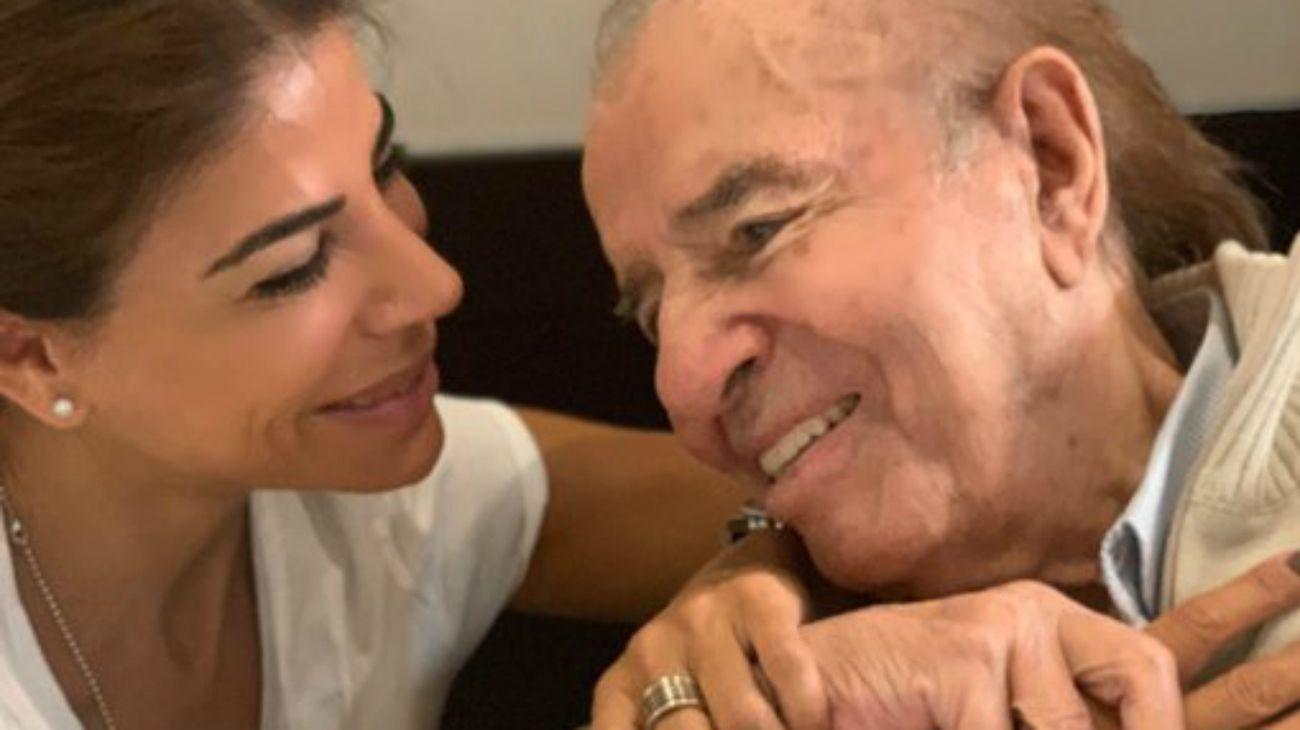 Zulema, hija del ex mandatario nacional, posteó una foto en la que están juntos.