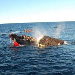 El Chiarpesca 59 fue el tercero de los barcos hundidos en el Parque Submarino Las Grutas.