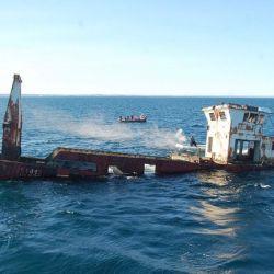 El Mariana Rojamar fue el segundo de los barcos hundidos en el Parque Submarino Las Grutas.