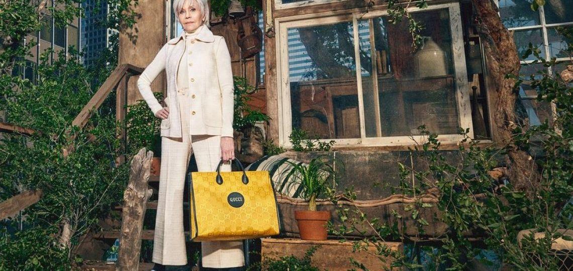 Jane Fonda: la nueva cara de Gucci en su versión sostenible