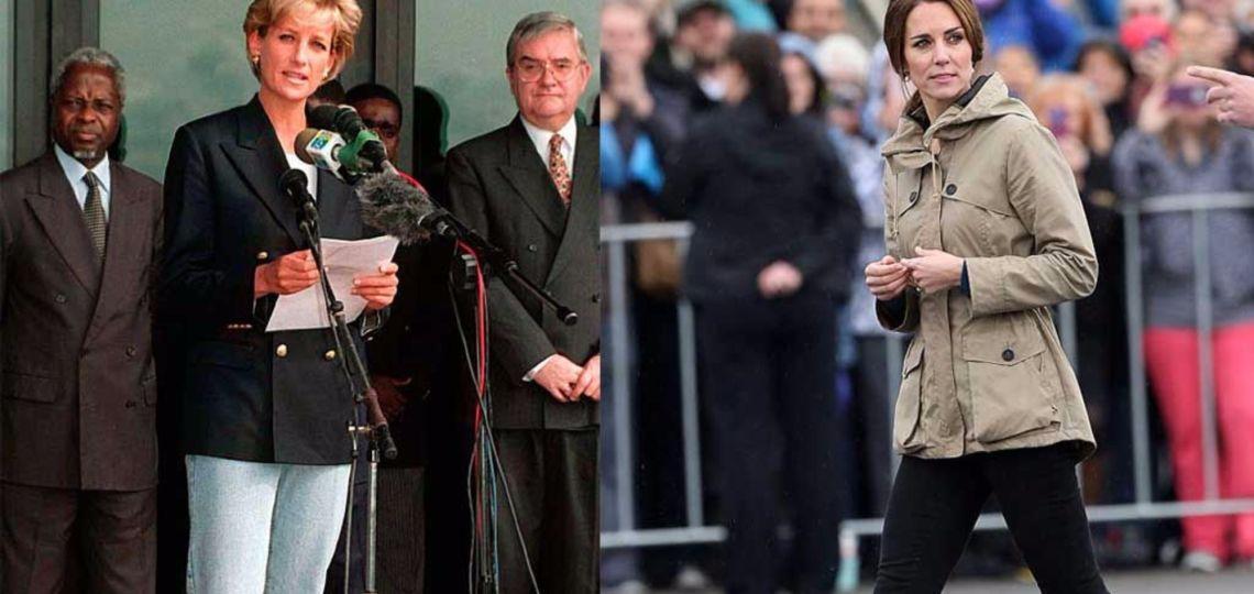 Kate Middleton y las zapatillas con las que Lady Di marcó tendencia