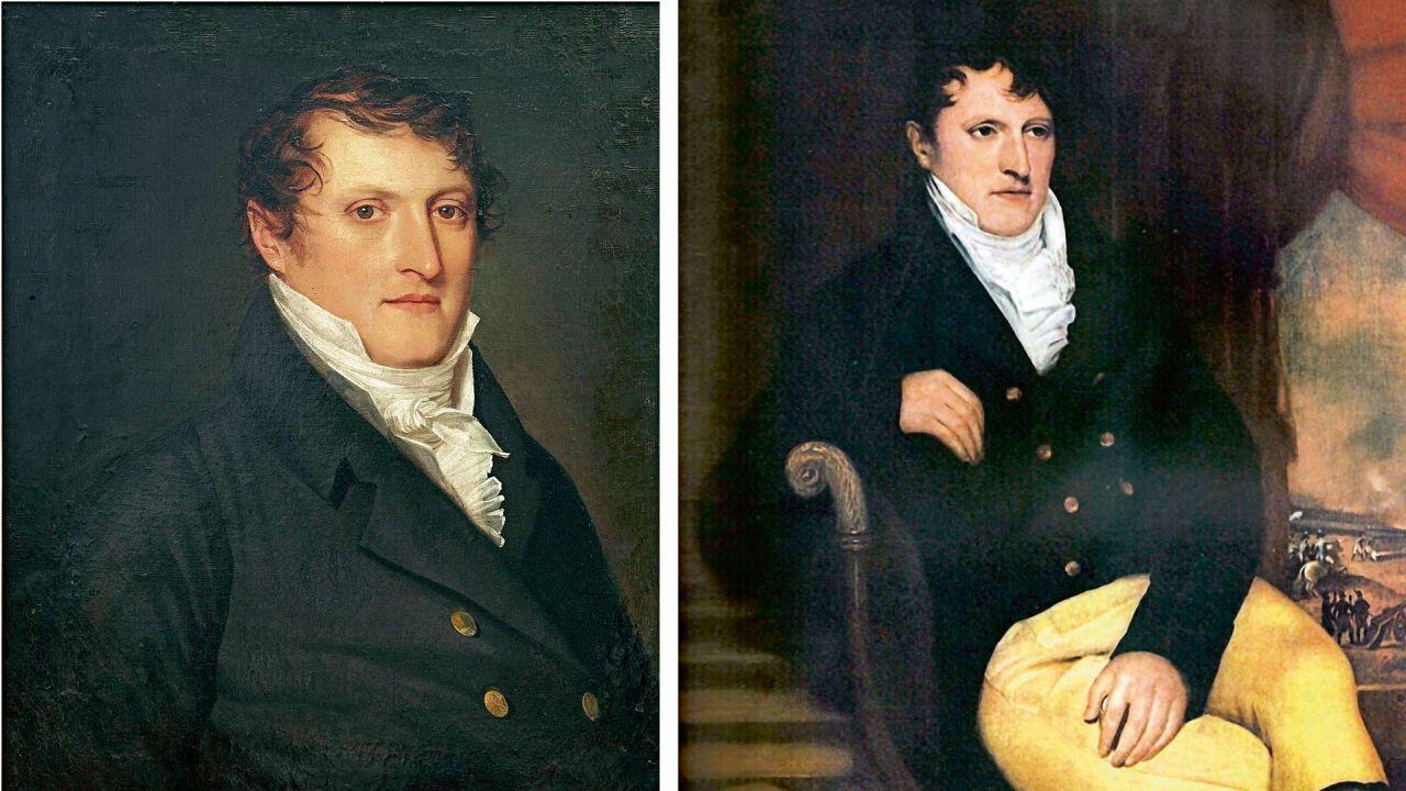 Belgrano en dos retratos atribuidos a Carbonnier. | Foto:Cedoc