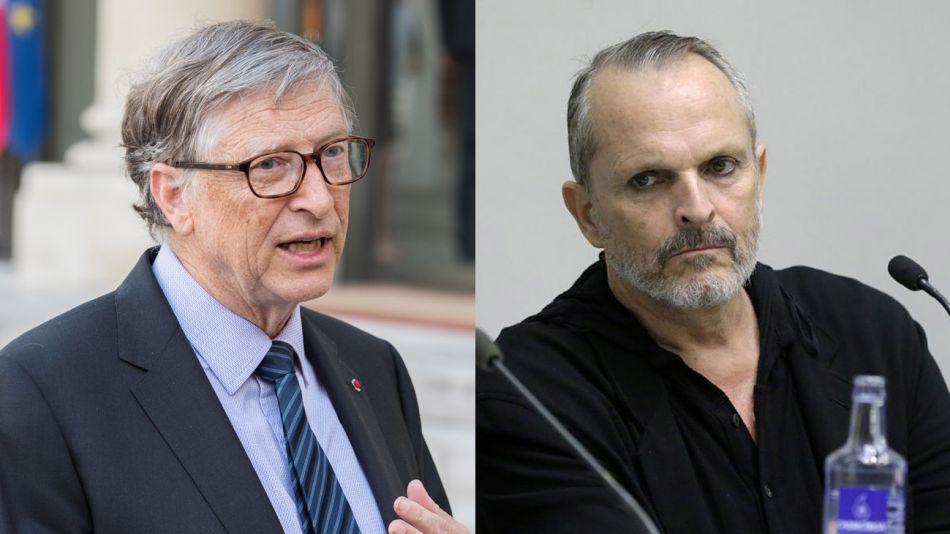 Miguel Bosé y Bill Gates 20200616