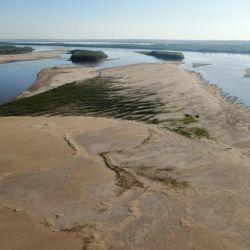 La bajante del río Paraná dejó al descubierto varios bancos y pozones extraordinarios en otras épocas.
