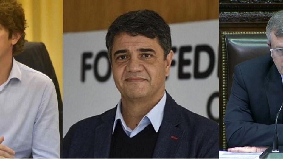 Martín Lousteau, Jorge Macri y Emilió Monzó