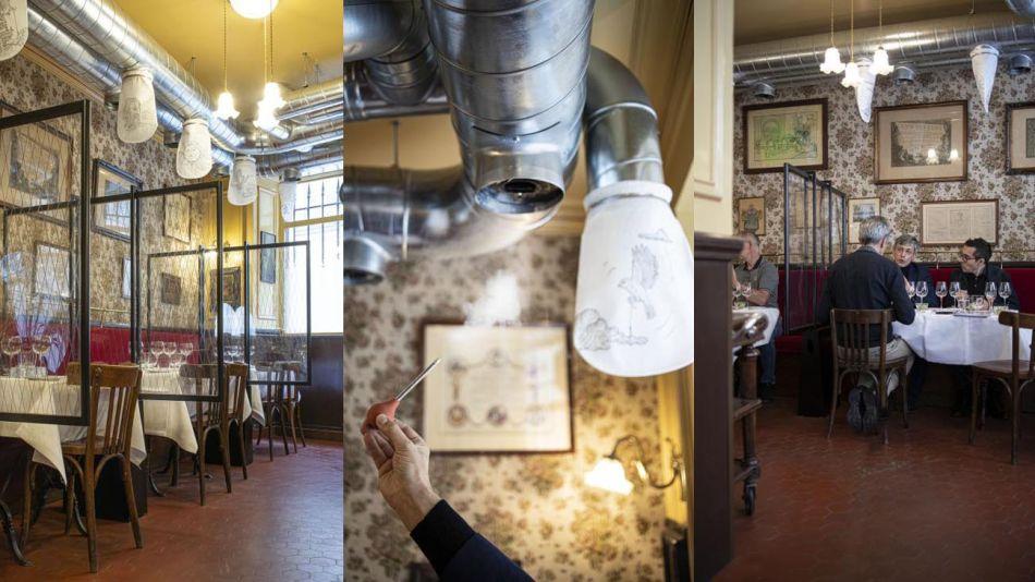 Restaurant Allard, de Paris, y su sistema de aislamiento 20200617