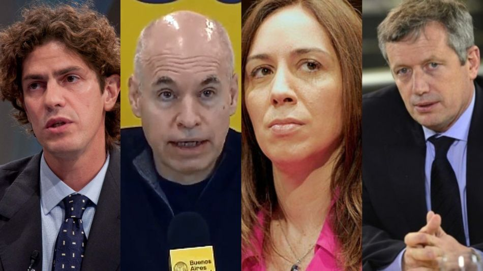 Vidal, Larreta, Lousteau, Monzó