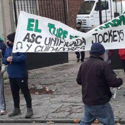 Reclamo de trabajadores del Turf | Foto:cedoc