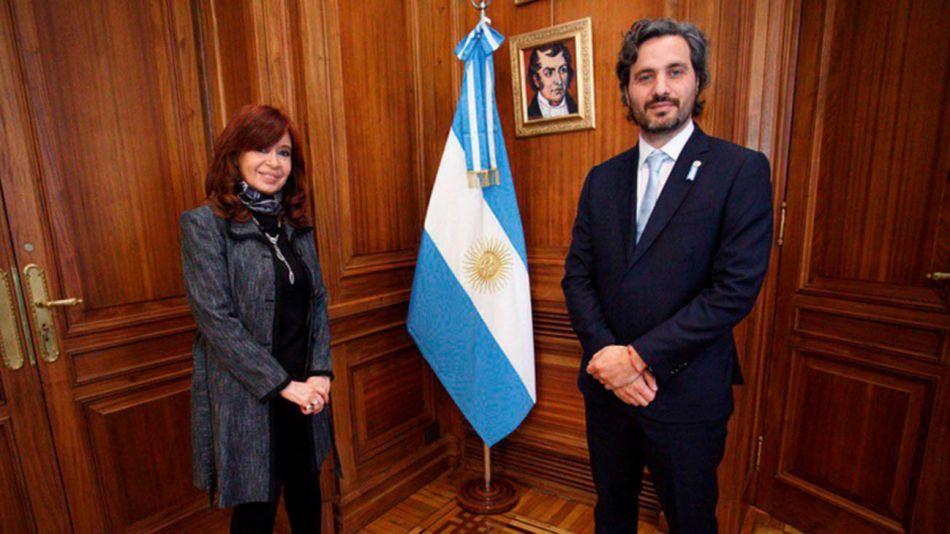 Santiago Cafiero con Cristina 20200618