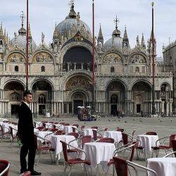 Esta postal de Venecia cambiará drásticamente cuando los europeos comiencen a usar el pasaporte sanitario.