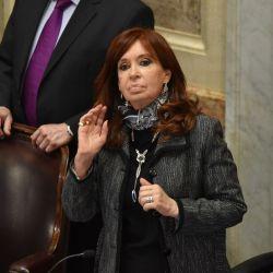 Cristina ayer durante la presentación de Cafiero en el Senado.  | Foto:CEDOC