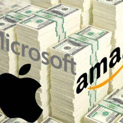Microsoft, Apple y Amazon. | Foto:cedoc