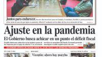 La tapa del sábado 20 de junio del Diario Perfil.