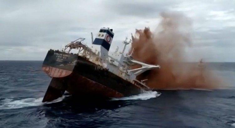 La Marina de Brasil procedió al hundimiento controlado del carguero Stellar Banner, que estaba varado desde febrero por un daño en la proa y que se fue a pique en aguas profundas brasileñas.