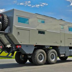 El Globecruiser 7500 se presentó por primera vez en la Caravan Salon Düsseldorf de 2015.