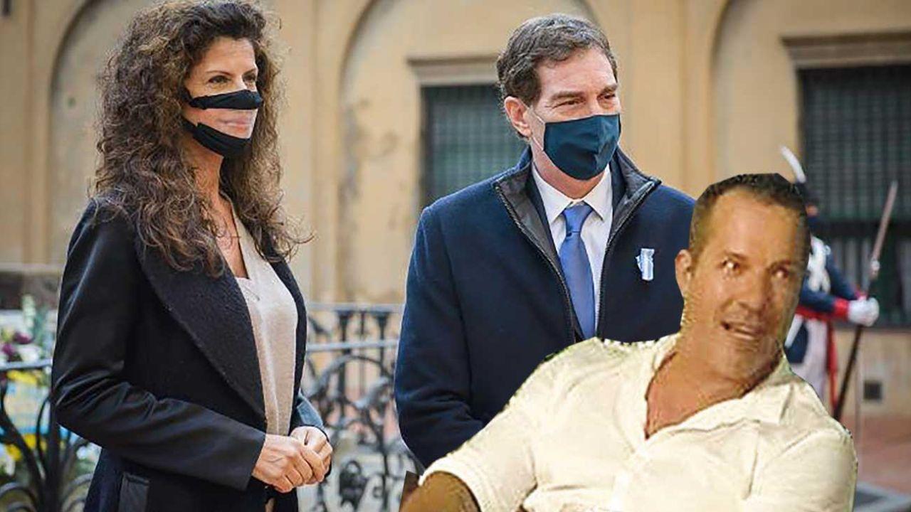 Analía Maiorana junto a su marido, Diego Santilli. Martín Terra, el ex de ella. | Foto:Cedoc.