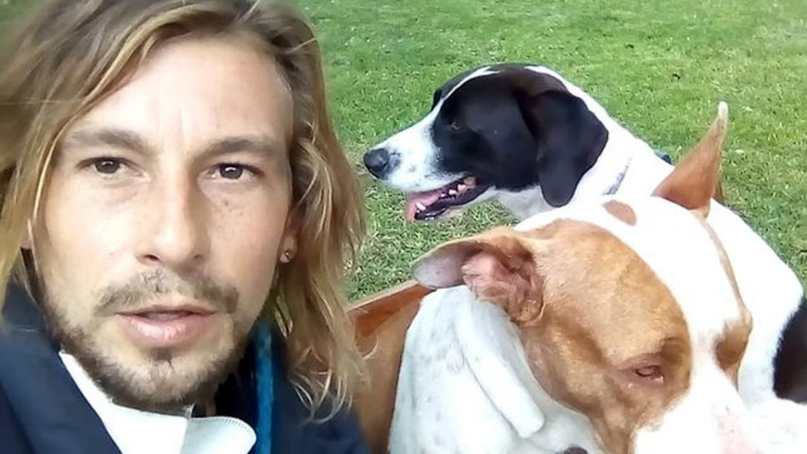 33-year-old surfer Michael Graef is stranded in Peru because of the coronavirus lockdown. He says he wants to go home, but not without the dogs which he has adopted on his travels.