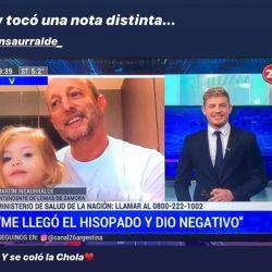 Martín Insaurralde entrevistado por su hijo Martín Insaurralde. | Foto:Cedoc.