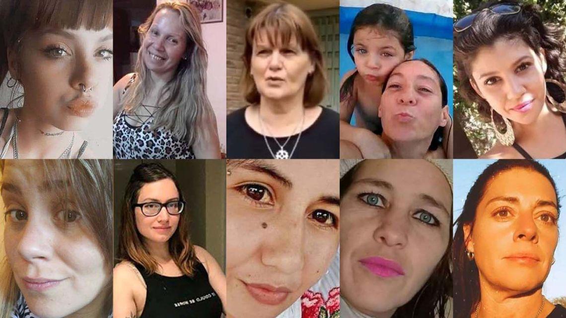 Claudia Repetto, Cristina Cattaneo, Cristina Iglesias y su hija Ada, Florencia Santa Cruz, Jesica Minaglia, María Julieta Riera, Rocío Ocampo, Romina Videla and Verónica Tottis.